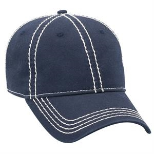 Superior Garment Washed Solid Color Cotton Twill Cap With Heavy Stitching. Blank