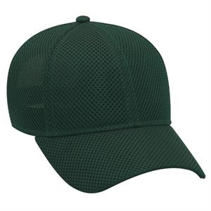 100% Polyester Solid Color Air Mesh Six Panel Low Profile Pro Style Cap. Blank