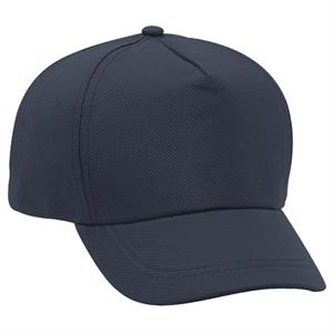 Non-woven Polypropylene Five Panel Pro Style Cap With Buckram Flap. Blank