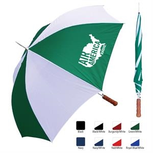 "Sale 10 Day Production - Metal Shaft Sport Umbrella With 48"" Arc"