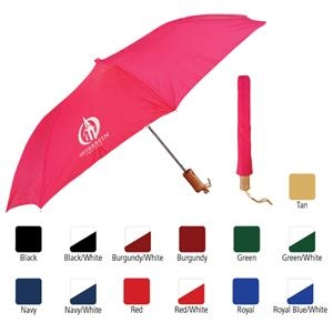 "Sale 10 Day Production - Auto Open Folding Umbrella With 42"" Arc"