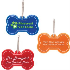 Dog Bone Reflective Collar Tag: New. Imprint Area Options: Specify On Order
