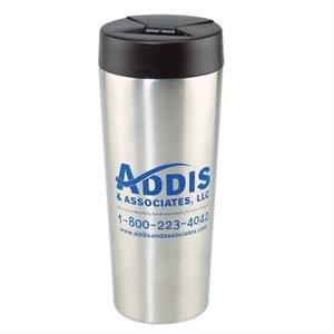 16oz Stainless Steel Travel Mug With Plastic Lid