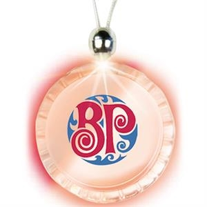 Red - Bottle Cap - Lighted Charm Necklace With Breakaway Clasp