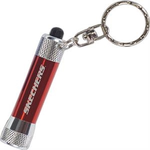 Red - Mini Flashlight - Key Light With Swivel Key Holder Attachment
