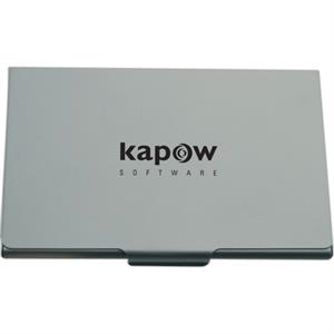 Brushed Aluminum - Brushed Aluminum Flat Business Card Case