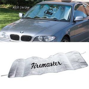The Accordian - Silver Mylar Reflective Accordion Sun Shade With Polyfoam Packing