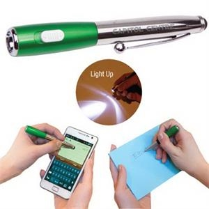 The Combination - Silver - Combination Stylus And Led Flashlight
