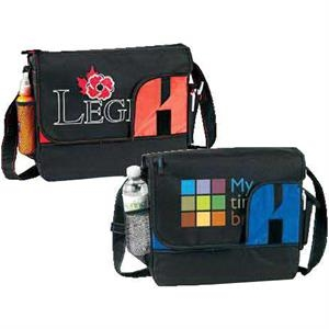 All Purpose Messenger Bag. Poly 600d With Color Accented Lining. While Supplies Last