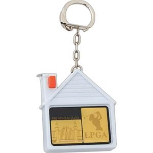 Key Holder With Tape Measure In A House Shape Case