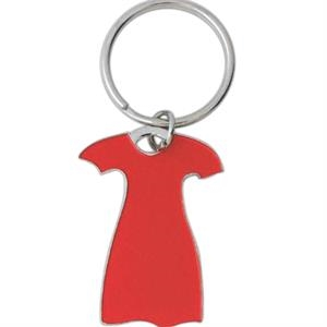 Die Struck Enamel Key Tag With Red Dress Logo