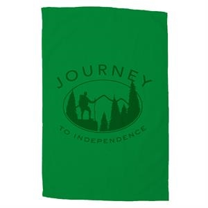"Platinum Collection - 7 Working Days - Embroidery - Colored Cotton Terry Velour Sport Towel, 16"" X 25"""