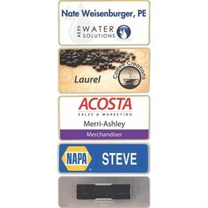 Name Badge With Clear Laminate Coating
