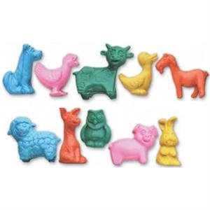 Junior Farm Animal Shape Erasers With 10 Styles Figurine