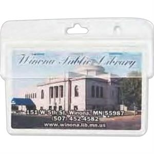 "Blank Hard Acrylic Id Holder, 3 3/4"" X 1 1/2"""