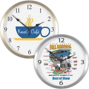 "Metal Wall Clock, 14"" Diameter. Clearance. While Supply Lasts"