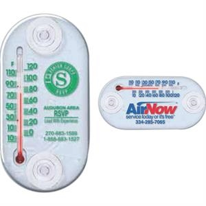 "Indoor/outdoor Window Thermometer With Two Vinyl Suction Cups, 4"" X 2"""
