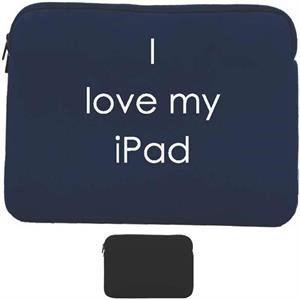 Ipad Sleeve Double Zippered Compartment For Ipad Or Any Tablet Less Than 10""