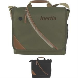 Inertia - Messenger Bag Made Of 600 Denier Nylon With Imitation Leather Trim
