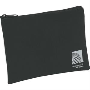 Black Synthetic Suede Amenity Pouch