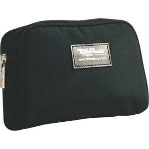 Black Microfiber Travel Amenity Bag