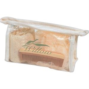 Pvc Bag With Loofah Scrubber, Comb And Exfoliator Scrubber
