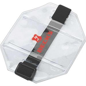Clear Pvc Id Arm Band With Expandable Straps