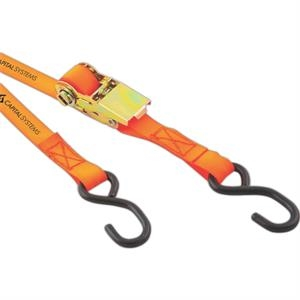 "2-piece Ratchet Strap Tested To Secure Up To 1200 Lbs. Dimensions: 10"" L X 1"" W"