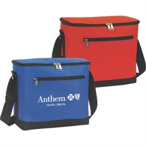 Vertical Soft 12 Can Cooler Made Of 600 Denier Nylon
