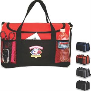 Amsterdam - Duffel Bag Made With 600 Denier Poly/pvc Backing Features 2 Mesh Pockets