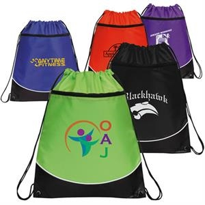Highlight Drawstring Backpack With Reinforced Corners