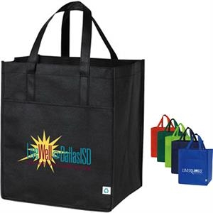 Nonwoven Shopping Tote With Large Front Pocket