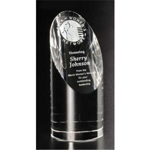 "Quantico Pristine Gallery - 2 3/4"" X 6 1/2"" - Award Made Of Optical Crystal"