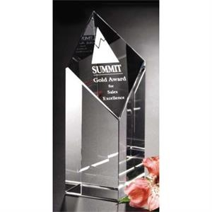 "Trinity Pristine Gallery - 2 3/8"" X 7"" X 2 3/8"" - Award Made Of Optical Crystal"