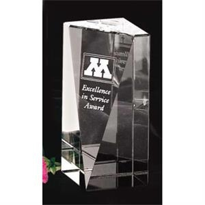 "Buena Vista Pristine Gallery - 2 1/4"" X 5"" X 2 1/4"" - Award Made Of Optical Crystal"