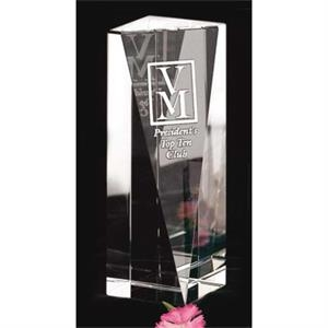 "Buena Vista Pristine Gallery - 2 1/4"" X 6 1/2"" X 2 1/4"" - Award Made Of Optical Crystal"