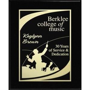 "Aberdeen Wall Plaque Gallery - 8"" X 10"" - Laser Plaque With Black Piano Finish"