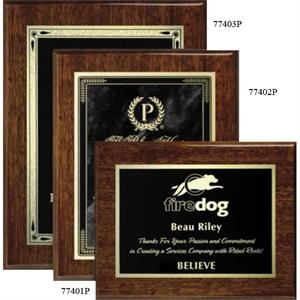 "Aberdeen Wall Plaque Gallery - 8"" X 10"" - Walnut Laser Plaque With Piano Finish"