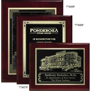 "Aberdeen Wall Plaque Gallery - 8"" X 10"" - Rosewood Laser Plaque With Piano Finish"
