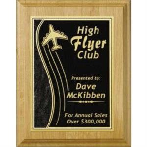 "Wall Plaque Gallery - 7"" X 9"" - Plaque With Alder Wood Natural Finish"