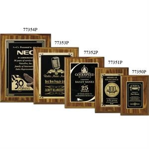 "Econo Wall Plaque Gallery - 7"" X 9"" - Plaque With Walnut Laminate Finish, Made Of Composite Wood"