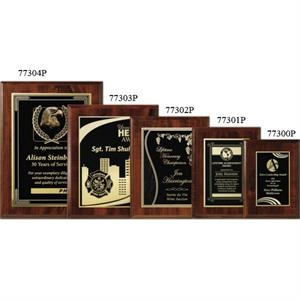 "Econo Wall Plaque Gallery - 7"" X 9"" - Plaque With Cherry Laminate Finish, Made Of Composite Wood"