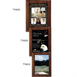 "Aberdeen Wall Plaque Gallery - 7"" X 9"" - Plaque With Walnut Piano Finish And Sublimated Plate"