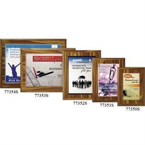 "Econo Wall Plaque Gallery - 7"" X 9"" - Plaque With Walnut Laminate Finish, Made From Composite Wood, With Sublimated Plate"