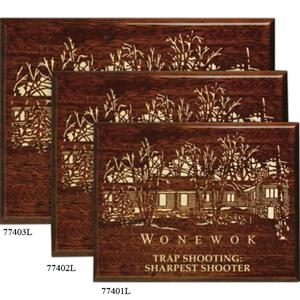 "Aberdeen Wall Plaque Gallery - 7"" X 9"" - Walnut Plaque With Piano Finish"