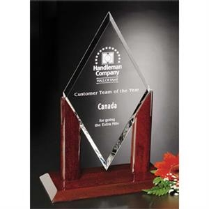"Quantum Parkdale Gallery - 6 1/2"" X 13"" X 4"" - Award Made Of Optical Crystal With Piano Finish"