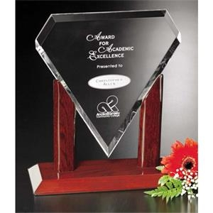 "Marquise Parkdale Gallery - 6 1/2"" X 9"" X 4"" - Award Made Of Optical Crystal With Piano Finish"