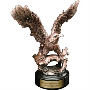 Perched Eagle Eagle Gallery - Bronze Perched Eagle Award. Blank