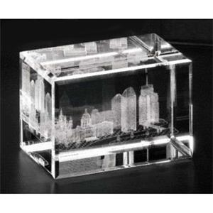 "Crystal 3d Gallery - 3"" X 2"" X 2"" - Optical Crystal 3d Cube Award"