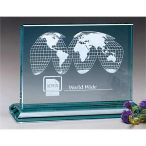 "Huntington Jade Gallery - 3"" X 9"" X 6 1/2"" - Jade Crystal Rectangle Award"